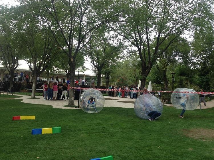 Futbol burbuja en eventos
