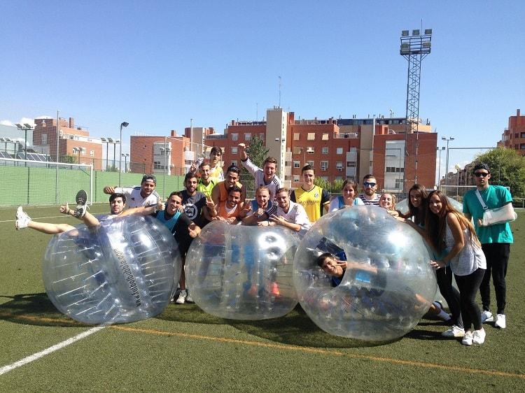 Futbol burbuja para cumpleaños