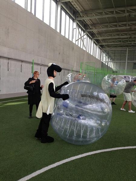 Fútbol Burbuja en una despedida de soltero