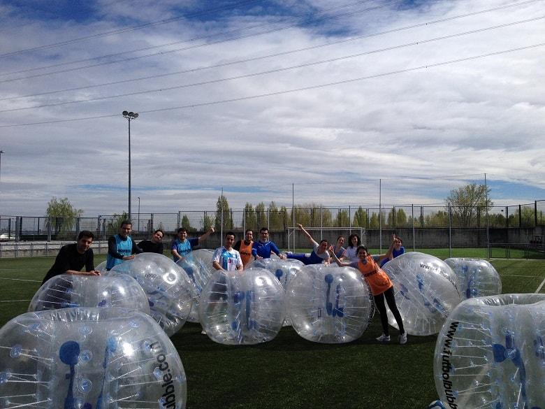 Futbol burbuja para Team Building