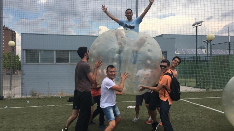 Bubblefootball para una diversión diferente