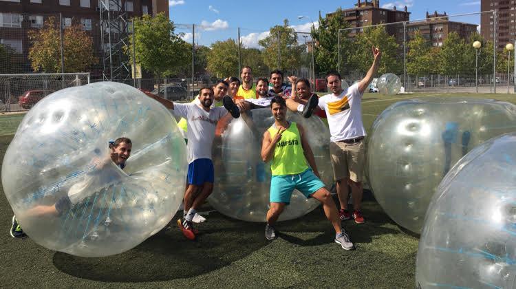 Futbol burbuja en tu despedida de soltero