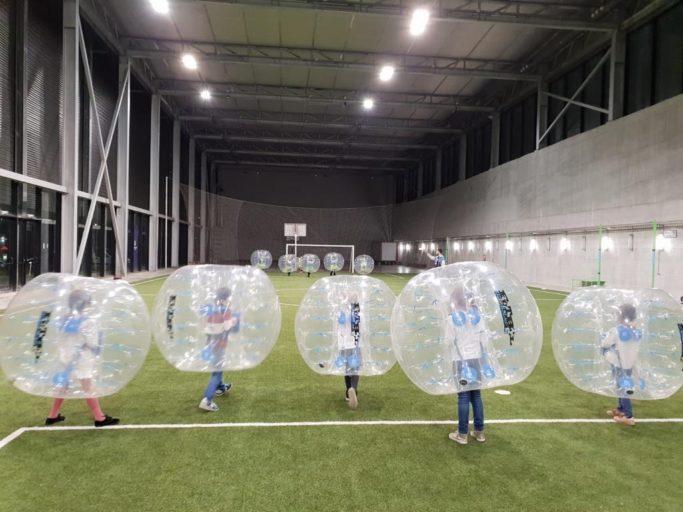 Fútbol Burbuja en la Caja Mágica