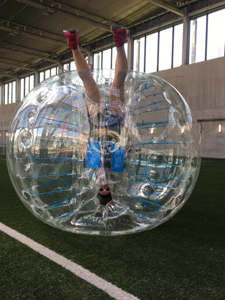 Fútbol Burbuja en la Caja Mágica.